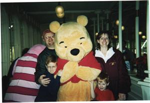 The Warner Family with Winnie the Pooh