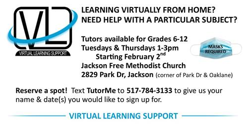 Virtual Learning Support Available