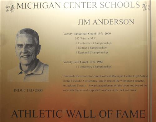 Jim Anderson WOF Plaque