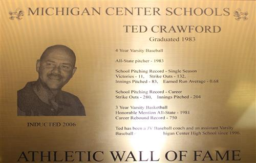 Ted Crawford WOF Plaque
